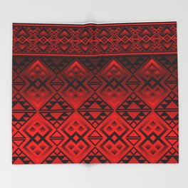 The Lodge (Red) Throw Blanket
