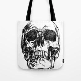 Grinning, Skull art, Custom gift design Tote Bag