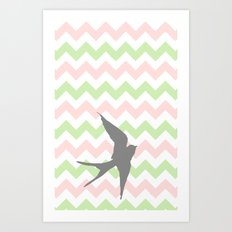 Chevron a Whim Art Print