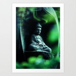 Zen Buddha Meditation Art Print