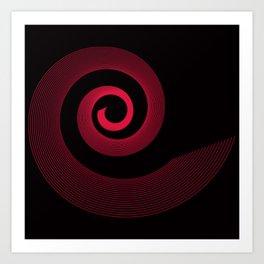 Red black spirale 5 Art Print
