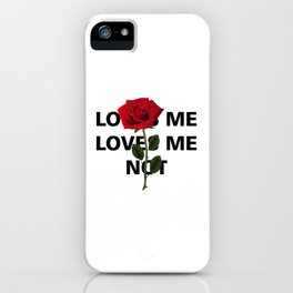 loves me loves me not roses iPhone Case