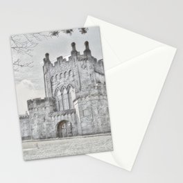 Ireland Kikenny Castle Artistic Illustration Pencil Style Stationery Cards