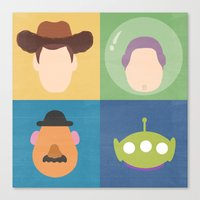 toy story Canvas Prints featuring Toy Story by Raquel Segal
