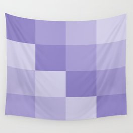 Four Shades of Lavender Square Wall Tapestry