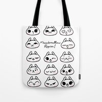 puppies Tote Bags featuring Marshmallow Puppies! by Carina Soares