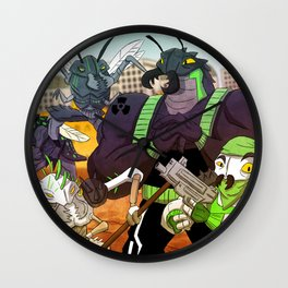 BAD ROACHES Wall Clock