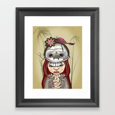 Wearing my lucky skull Framed Art Print