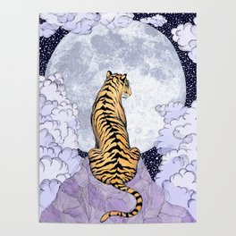 Tiger Moon   Colour Version Poster
