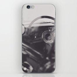 Super car details, british triumph spitfire, black & white, high quality fine art print, classic car iPhone Skin