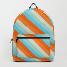 Goldfish Diagonal Striped Pattern Backpack