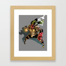 Golden Demon Warrior Framed Art Print