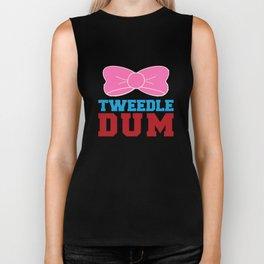 Tweedle Dee Matching Funny Graphic T-shirt Biker Tank