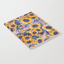 Sunflowers Blue Notebook
