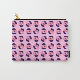 Simple geometric discs pattern pink and blue Carry-All Pouch