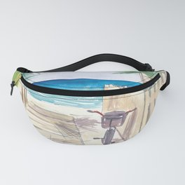A Day At The Beach with Bike Fanny Pack