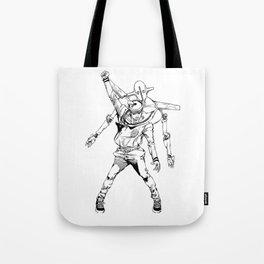 Gappy posing as freddy mercury Tote Bag