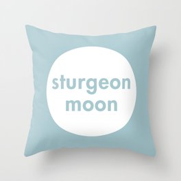 Sturgeon Moon Throw Pillow