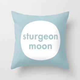 Sturgeon Moon Throw Pillow