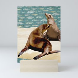 Sea Lion Paradise Mini Art Print
