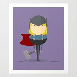 Thor: My handy hero! Art Print