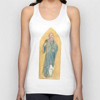 benedict Tank Tops featuring Saint Benedict by Tricksterbelle Productions