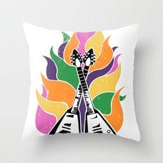 Frying V (White) Throw Pillow