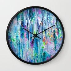 Silver Rain Wall Clock