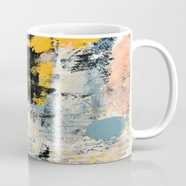 002.3: a vibrant abstract design in black yellow and pink by Alyssa Hamilton Art  Coffee Mug