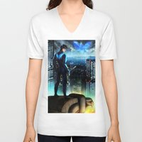 nightwing V-neck T-shirts featuring Nightwing by Cielo+