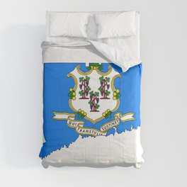 Connecticut Map with Flag Comforters