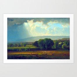 George Inness Harvest Scene in the Delaware Valley Art Print