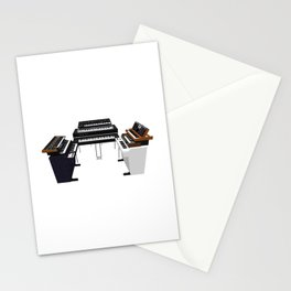 Vintage Keyboards / Synthesizers Stationery Cards