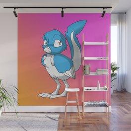 Light Blue/Color-Or-Paint-Your-Own Reptilian Bird 3 #ArtofGaneneK #Animal Wall Mural