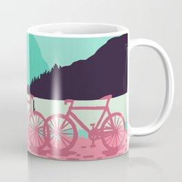 Bicycles on the lake Coffee Mug