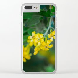Yellow Blossoms 2 Clear iPhone Case