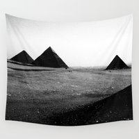 egypt Wall Tapestries featuring Egypt, Pyramids by DLS Design