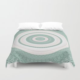 Bohemian Mint Green and Pink Texture Mandala Duvet Cover