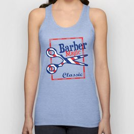 Barber Magic - red, white, blue Unisex Tank Top
