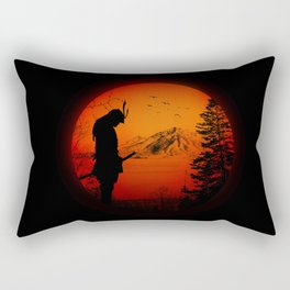 My Love Japan / Samurai warrior Rectangular Pillow