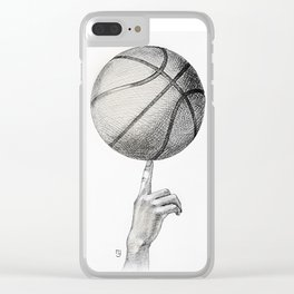 Basketball spin Clear iPhone Case