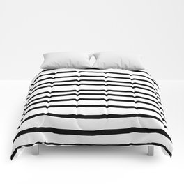 Simply Drawn Stripes in Midnight Black Comforters