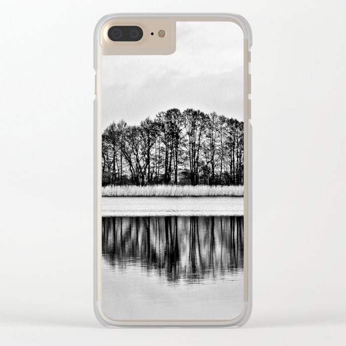 White Symphony of Winter Lake Clear iPhone Case