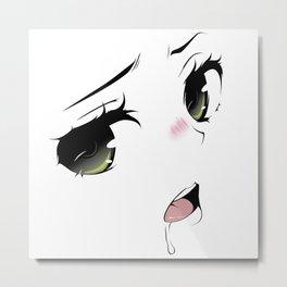 Ahegao Eyes Metal Print