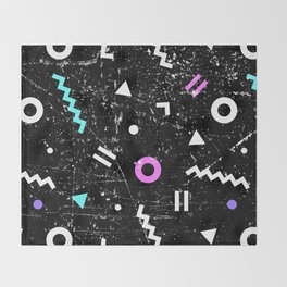 Memphis Grunge Throw Blanket