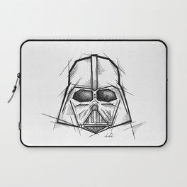 Darth Vader Handmade Drawing, Made in pencil, charcoal and ink, Tattoo Sketch, Tattoo Flash, Sketch Laptop Sleeve