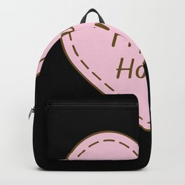 I Love French horns Simple Heart Design Backpack