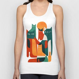Cat Family Unisex Tank Top