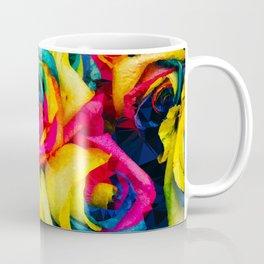 Geometric Multicolor Roses Coffee Mug