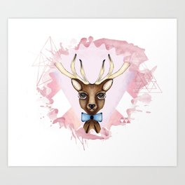 Pink Deer - Ciervo Rosa Art Print